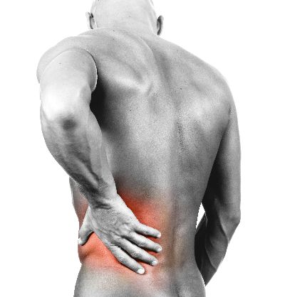 Man in need of low back pain treatment in Atlanta